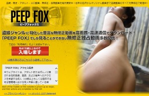 PEEP FOX(ピープフォックス)トップ画面