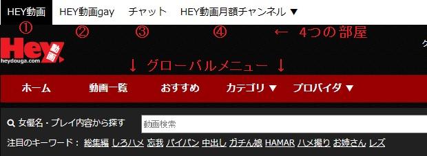 Hey動画(heydouga.com)4つの部屋